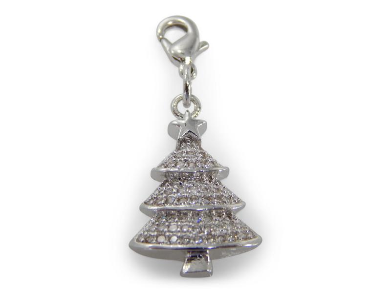 ERIMISH - CHARMING COLLECTION HOLIDAY CHARM - SILVER CHRISTMAS TREE
