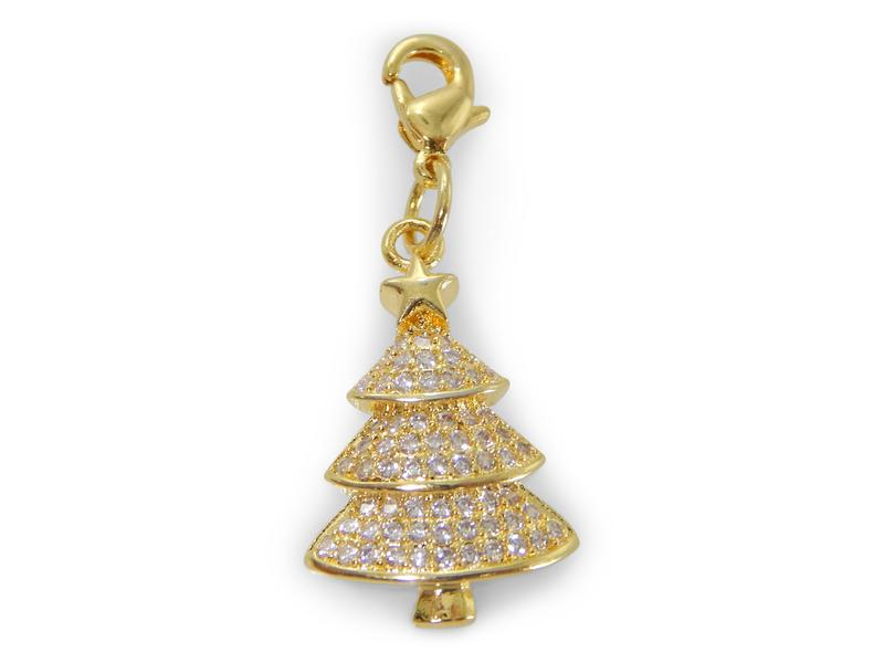 ERIMISH - CHARMING COLLECTION HOLIDAY CHARM - GOLD CHRISTMAS TREE