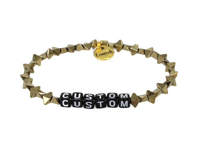 ERIMISH - CUSTOM NAME BRACELET - BLACK LETTER