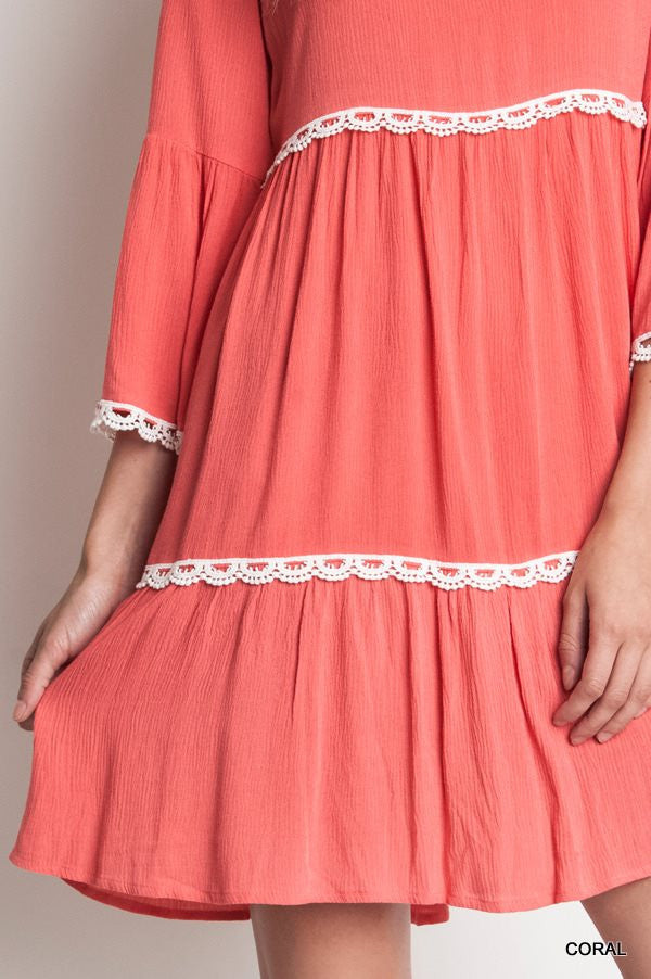 Baby Doll - Coral Dress