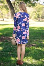 VIAMOR - MIKAYLA  FLORAL POCKET DRESS