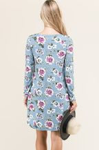 VIAMOR - HAYLEY  FLORAL POCKET DRESS