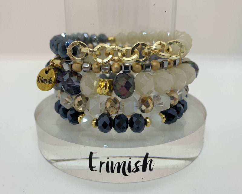 "ERIMISH  -  ""CYBER MONDAY SPECIALl"" -  BLUETIFUL STACK BRACELET SET"