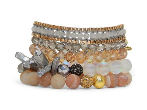 ERIMISH - BUTTERSCOTCH STACK BRACELET SET