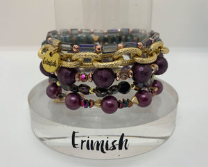 ERIMISH  - CRANBERRY KISS STACK BRACELET SET