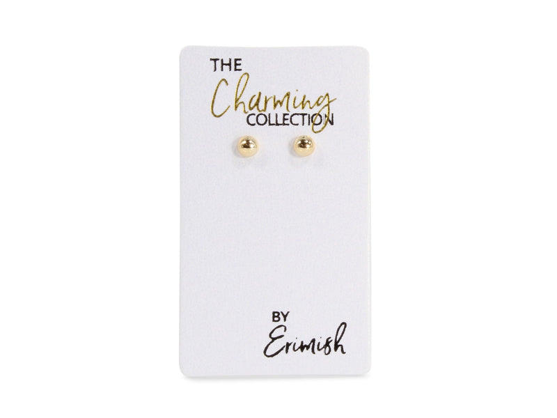 ERIMISH - CHARMING COLLECTION 4MM EARRINGS - GOLD