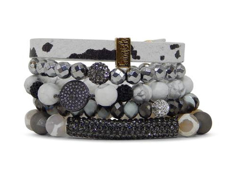 ERIMISH - BLACK OUT STACK BRACELET SET