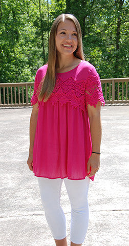 Top of World - Magenta Tunic/Top
