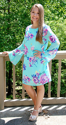 Love in Bloom - Everly Mint Floral Dress