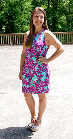 Floral Fantasy - Purple/Mint Dress