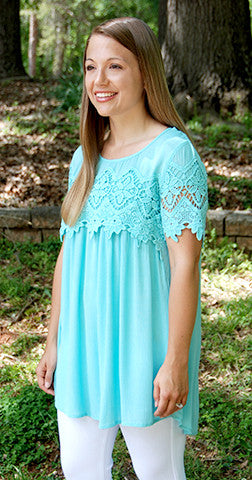 Top of World - Mint Tunic/Top