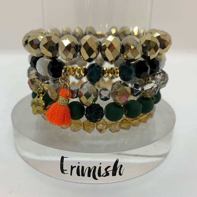 ERIMISH  -  GEM JAMS  (KID SIZED) -  CIRCUS STACK BRACELET SET