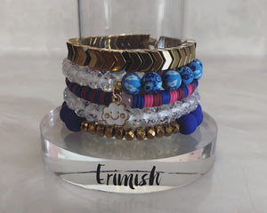"ERIMISH - (Kid""s Size) GEM JAMS - ""SWEET DREAMS"" STACK BRACELET SET"