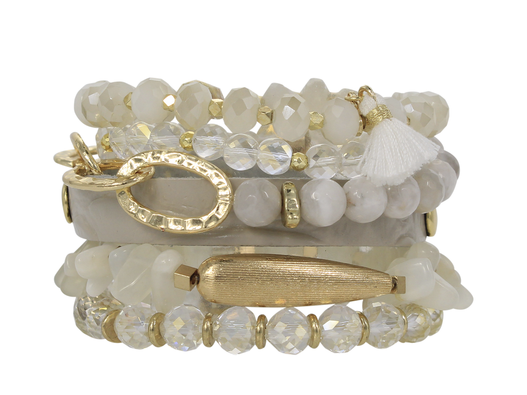 ERIMISH - HOLIDAY COCONUT  STACK BRACELET SET