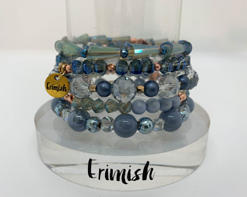 ERIMISH  -  CRYSTAL BLUE -  STACK BRACELET SET