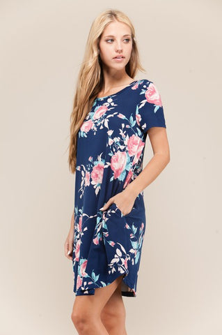 VIAMOR - AUDREY FLORAL POCKET DRESS
