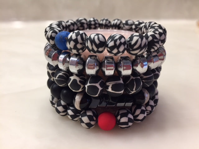 "ERIMISH - (Kid-Size) GEM JAMS ""SPORTY"" STACK BRACELET SET"