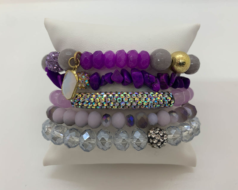 "ERIMISH - ""BLACK FRIDAY SPECIAL"" - GRAPEY BOXED STACK BRACELET SET"