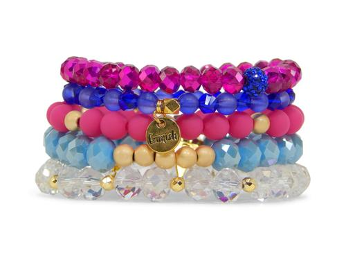 ERIMISH  -  EXTENDED SIZE DRAGON FRUIT STACK BRACELET SET