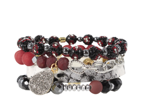 ERIMISH - MIKE  GAMEDAY STACK BRACELET SET