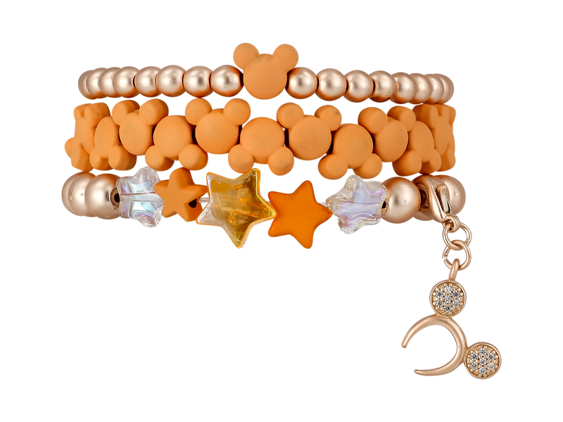 ERIMISH  MICKEY STARTER STACK BRACELET SET - ORANGE