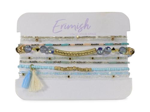ERIMISH PALM BREEZE BRACELET STACK - MINT