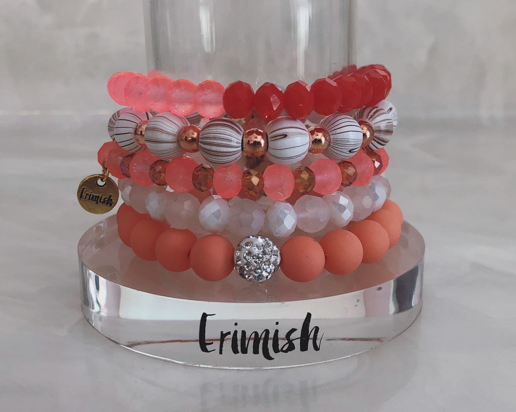 ERIMISH  -  PEACH PERFECT STACK BRACELET SET