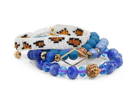 ERIMISH  -  GEM JAMS  (KID SIZED) -  PEZ LEOPARD - STACK BRACELET SET