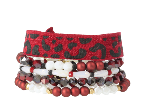 ERIMISH - GAMEDAY NFL REDBIRD BRACELET SET