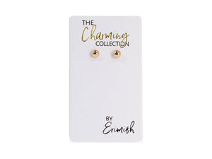 ERIMISH - CHARMING COLLECTION 4MM EARRINGS - ROSE GOLD