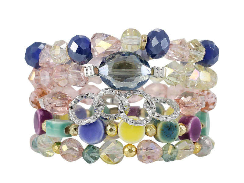 ERIMISH  ROCK CANDY  STACK BRACELET SET