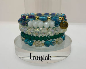 "ERIMISH  -  ""CYBER MONDAY SPECIAL"" - SEA JEWELL STACK BRACELET SET"