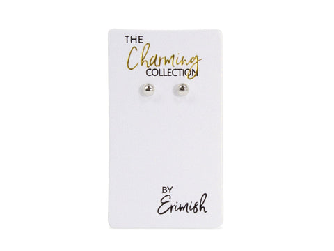 ERIMISH - CHARMING COLLECTION 4MM EARRINGS - SILVER