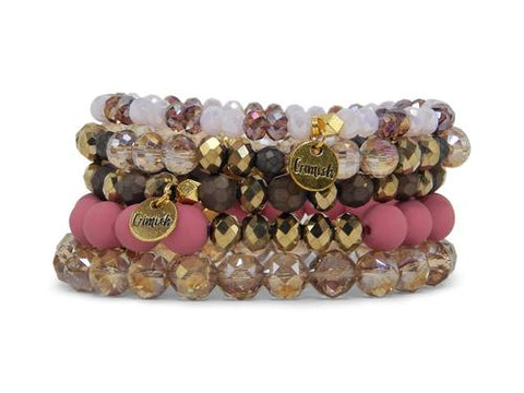 ERIMISH -  SPICED BERRY STACK BRACELET SET