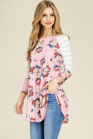 VIAMOR- ADDIE  FLORAL TOP