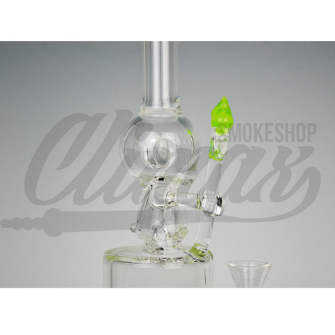 Climax Glass - Slyme Trident Water Pipe - Climax Smoke Shop