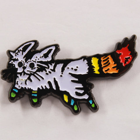 White Cat Hat Pin
