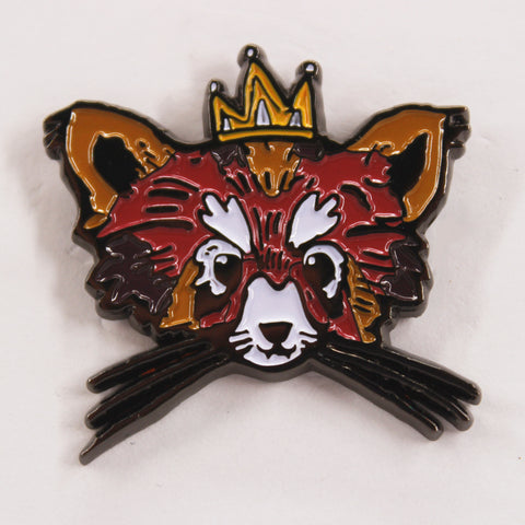 King Racoon Hat Pin
