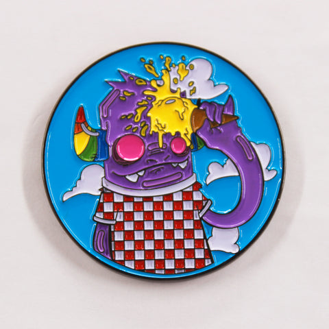A Monster & His Ice Cream Hat Pin