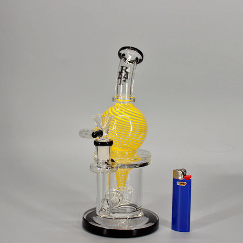 RICH MF Glass Yellow Globe Water Pipe
