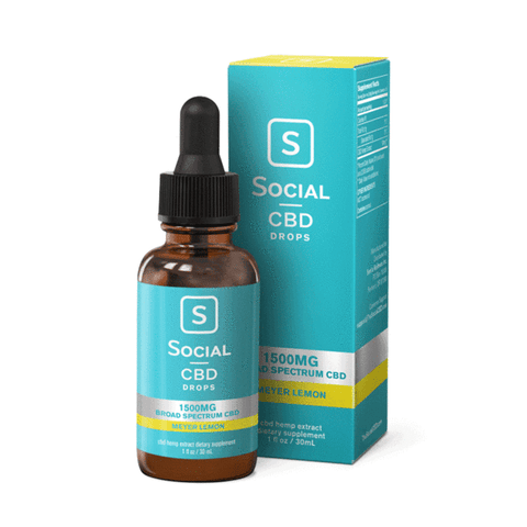 Social CBD Broad Spectrum Drops 1500mg