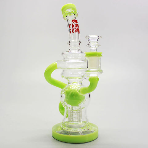 "Canna Fornia 9"" Spore Recycler with Matrix Showerhead Water Pipe"