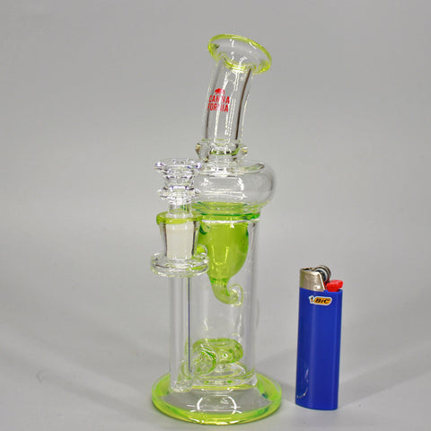 Canna Fornia Glass Green Tornado Water Pipe