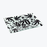 428 B&W Glass Rolling Tray