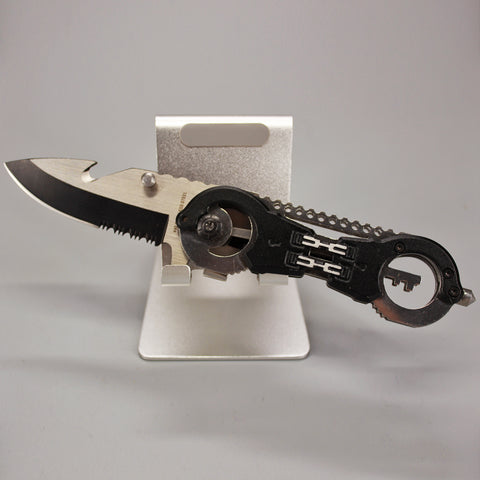 Handcuff Grip Multi-tool Pocket Knife