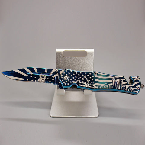 American Skyline Blue Multi-tool Pocket Knife