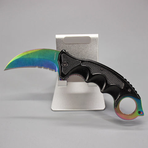 Rainbow Karambit Pocket Knife