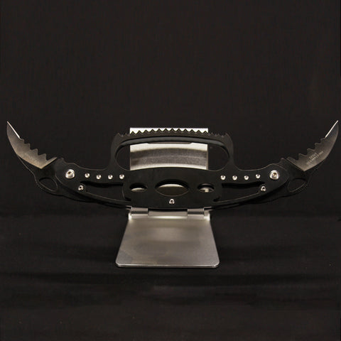 Crab Black Double Ended Knife