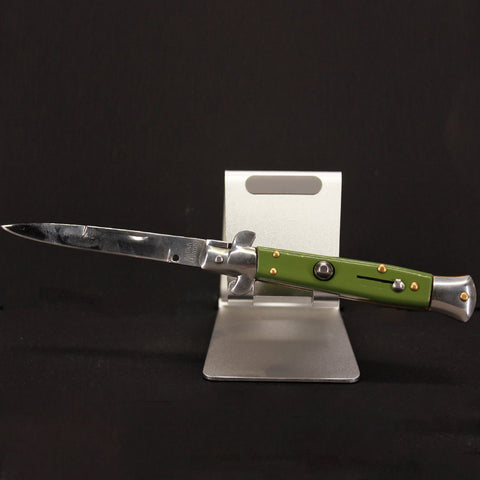 Green Milano Switch Blade Pocket Knife