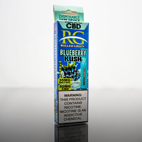 Rolled Green™ Hybrids™ Blueberry Kush SaltNic - Disposable Vape Device